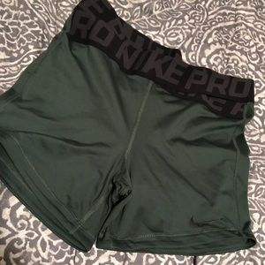 Olive green compression shorts